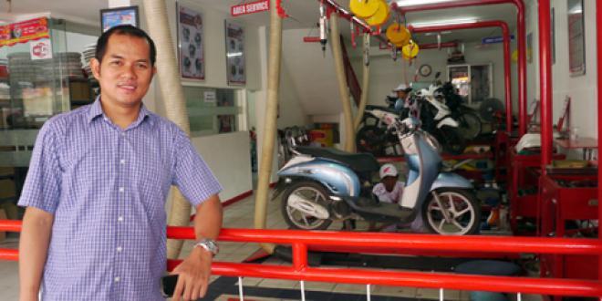 Ahmad Jayadi Antara bisnis bengkel dan balap